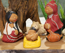 Nativity Scene With The Holy F...