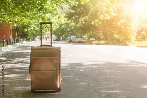 Fototapeta  big bag in the city and travel
