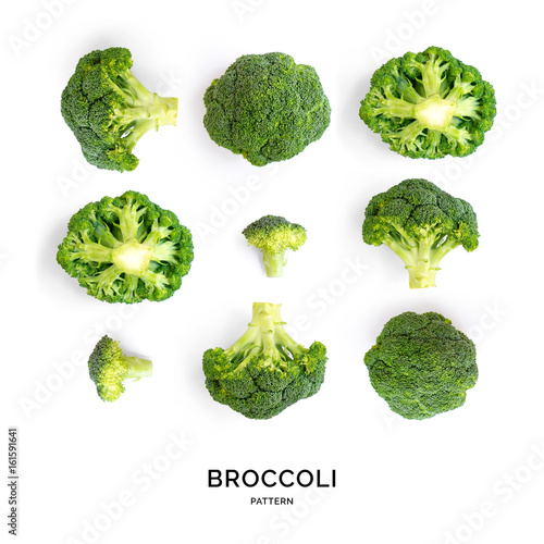 Photo  Creative layout made of broccoli