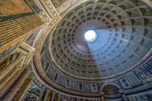 Interior Of Rome Pantheon With...