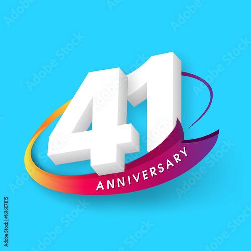 Fotografia  Anniversary emblems 41 anniversary template design