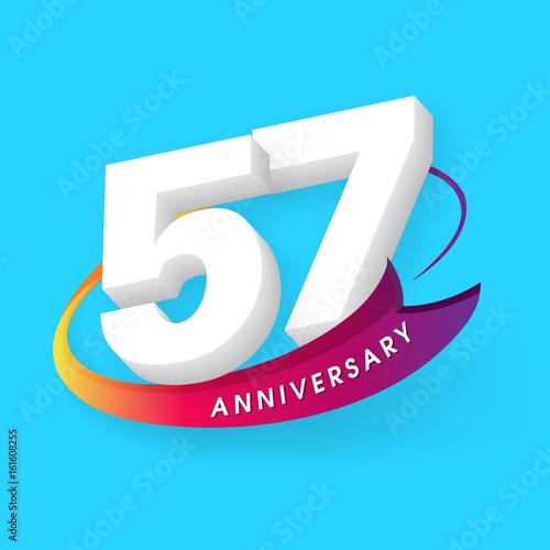Photo  Anniversary emblems 57 anniversary template design