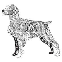 Brittany Dog Zentangle Stylize...
