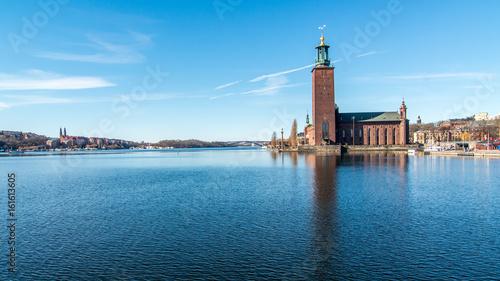 Montage in der Fensternische Stockholm City hall