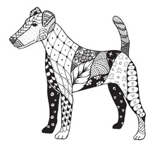Fox Terrier Zentangle Stylized...