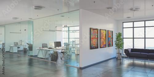 Fototapeta Großraumbüro - Bürogebäude - Bürofläche - Gewerbefläche - Immobilie