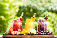 3 Delicious Slushies From Different Berries And Fruits