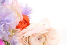 薔薇とスイートピーの花束