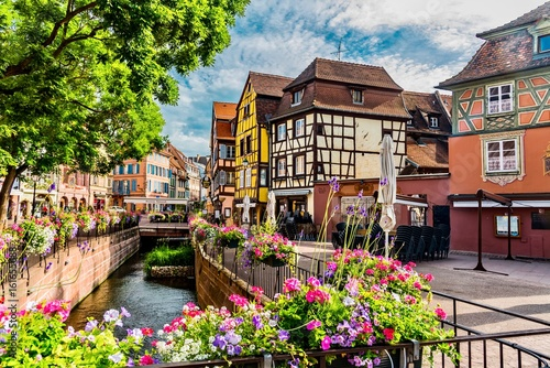 Old houses and canal,Colmar, France Canvas Print