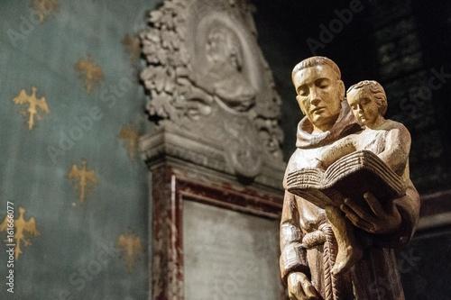 Canvas Print Paris - Statue de Saint Antoine de Padoue - Notre dame de Paris