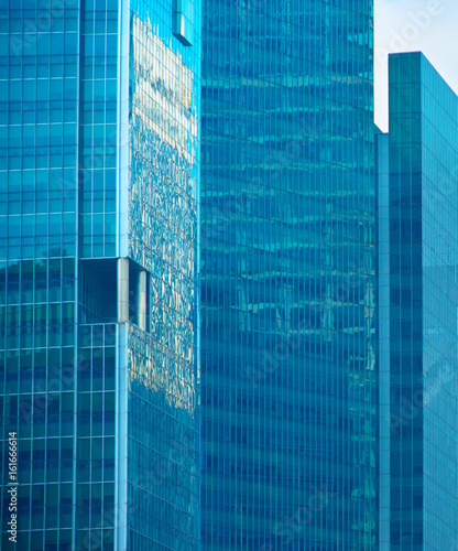 Photo Glass walls of Skyscrapers, Singapore