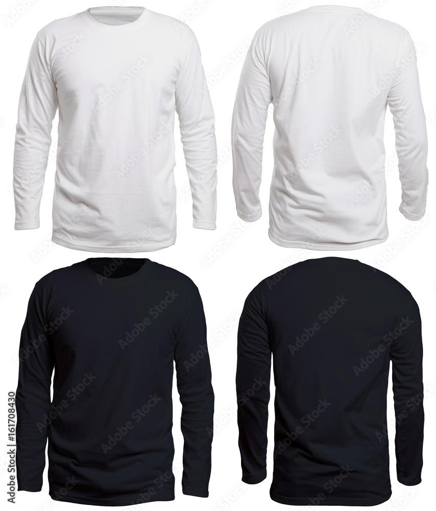 Fototapety, obrazy: Black and White Long Sleeve Shirt Mock up