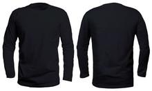 Black Long Sleeve Shirt Mock Up