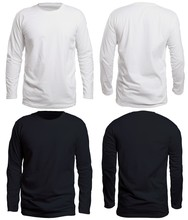 Black And White Long Sleeve Shirt Mock Up