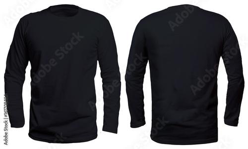 Fényképezés  Black Long Sleeve Shirt Mock up