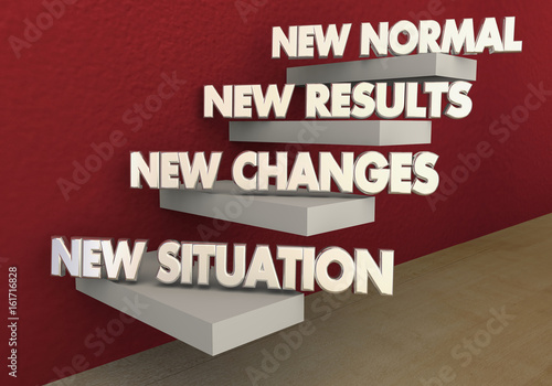 New Normal Situation Changes Results Steps 3d Illustration Canvas Print