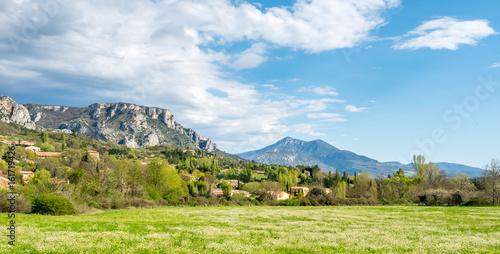 Foto op Aluminium Blauw Landscape view of countryside