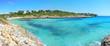 Landscape of the beautiful bay of Cala Mandia with a wonderful turquoise sea, Porto Cristo, Majorca, Spain