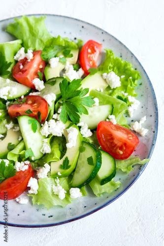 Fototapety, obrazy: Vegetable salad with feta