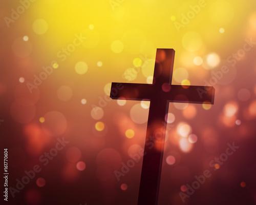 Photo  cross on the rays background, worship background