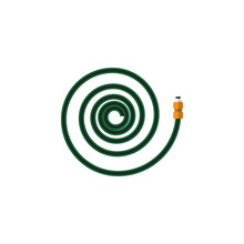 Isolated Garden Hose Flat Icon...