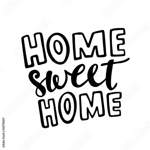 Pinturas sobre lienzo  Home Sweet Home vector lettering