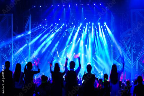 Fotografie, Obraz  Stage Spotlight with Laser rays
