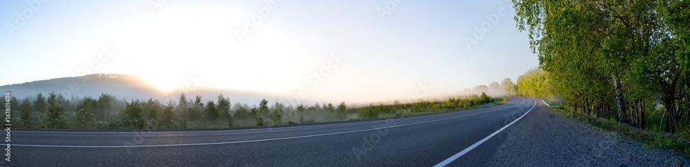 Fototapeta morning road