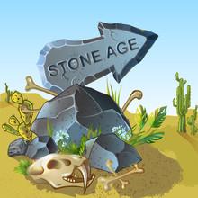 Cartoon Stone Age Pointer Temp...