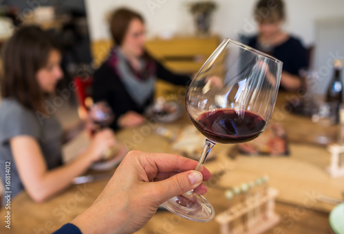 Fotografía  dégustation vin rouge