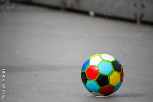 Kolorowe piłki nożnej