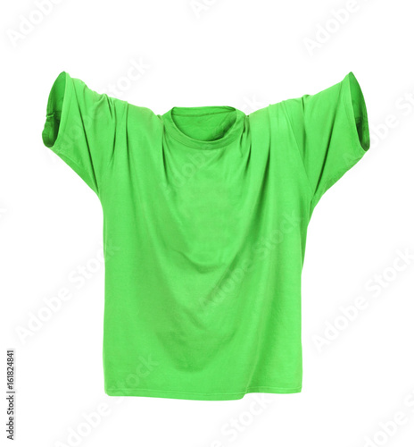 3c2370578 Hollow green T-shirt on a white background - Buy this stock photo ...