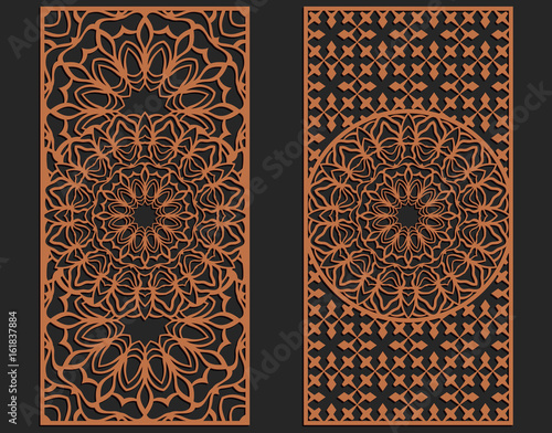 laser cutting set wall panels jigsaw die cut ornaments lacy