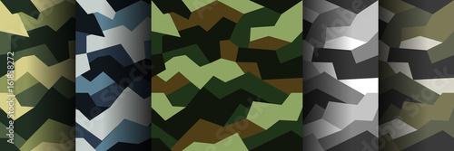 Pinturas sobre lienzo  Vector seamless pattern camouflage