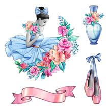 Watercolor Illustration, Balle...