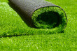 artificial rolled green grass