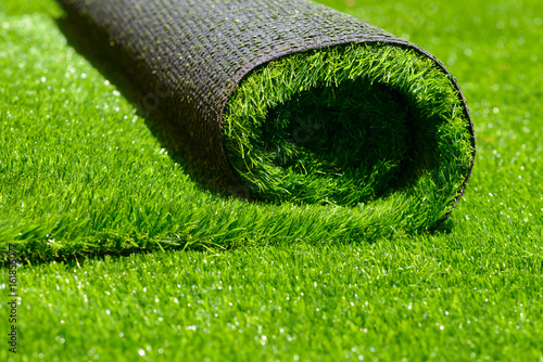 Garden Poster Grass artificial rolled green grass