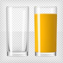 Orange Juice And An Empty Glass