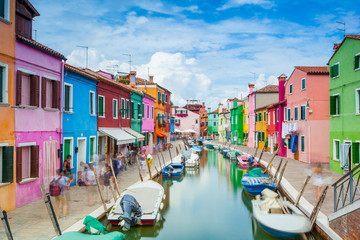 Fototapeta na wymiar Burano Island, Vernice, Italy