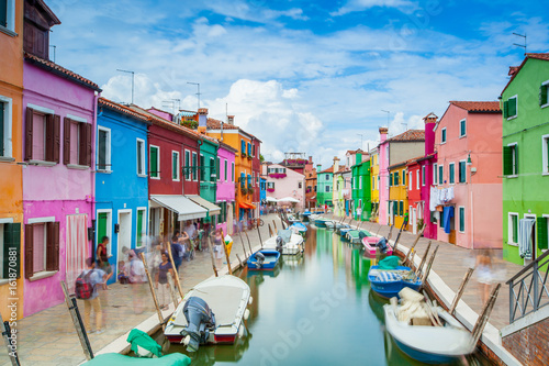 Plakat Wyspa Burano, Vernice, Włochy