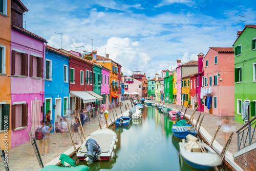 Fotodibond 3D Wyspa Burano, Vernice, Włochy