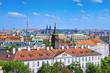 Prague skyline, Czech Republic, view from prague castle hill