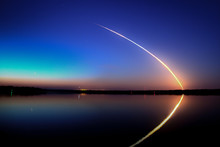Space Shuttle Launch Into A Bl...