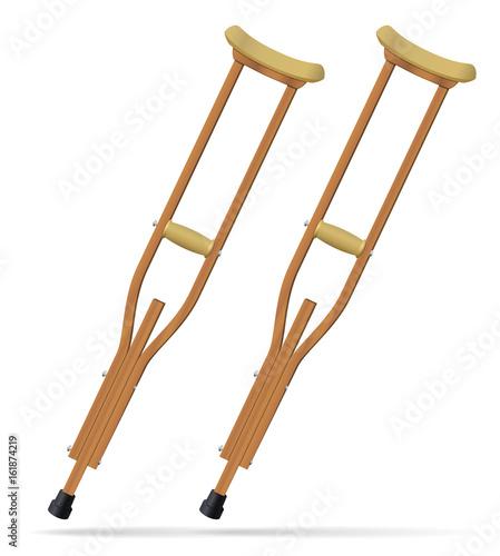 Slika na platnu Crutches