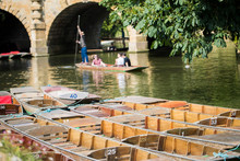 Boating In Punts On River Cher...