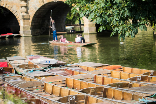 Fotografía Boating In Punts On River Cherwell In Oxford