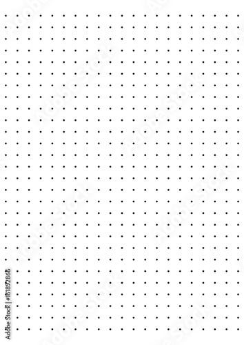 full page centimeter Dot Paper vector  - 161892866