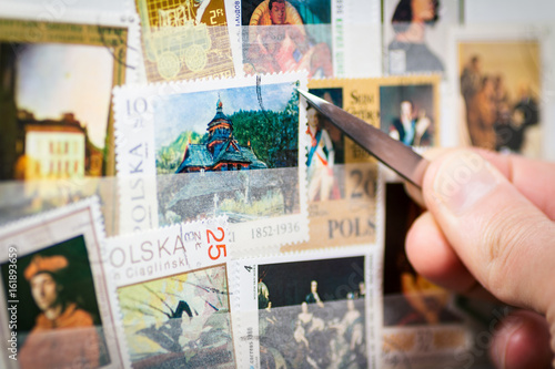 stamp collection Plakat