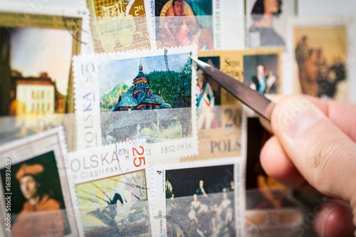 Canvastavla stamp collection