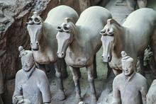 Calvary Horses Of The Terra Cotta Army, Xian, China